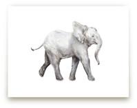 Baby Watercolor Elephant