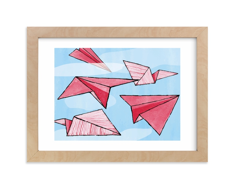 """""""Up and Away"""" - Limited Edition Art Print by Leigh in beautiful frame options and a variety of sizes."""