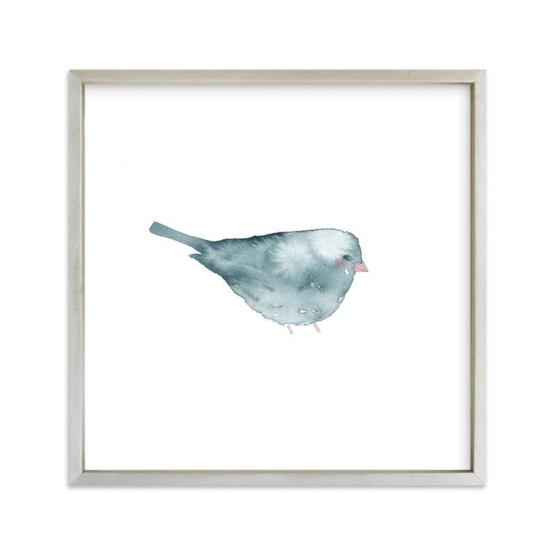 """Blushing Bird 2"" - Limited Edition Art Print by Renee Anne in beautiful frame options and a variety of sizes."