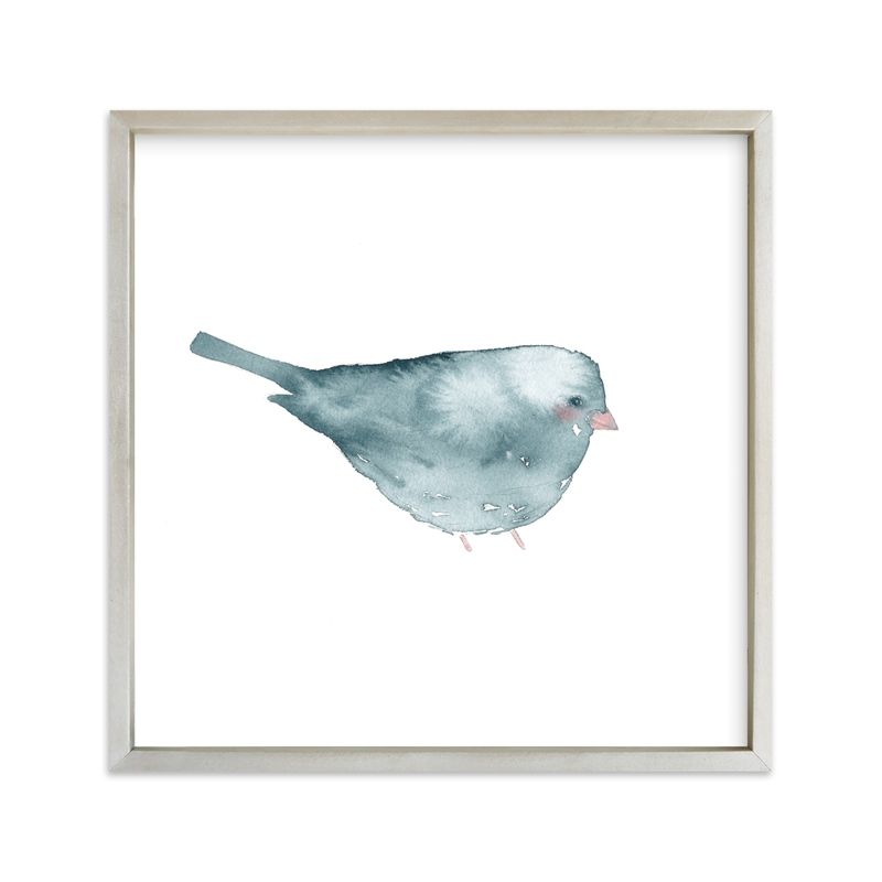 """""""Blushing Bird 2"""" - Limited Edition Art Print by Renee Anne in beautiful frame options and a variety of sizes."""