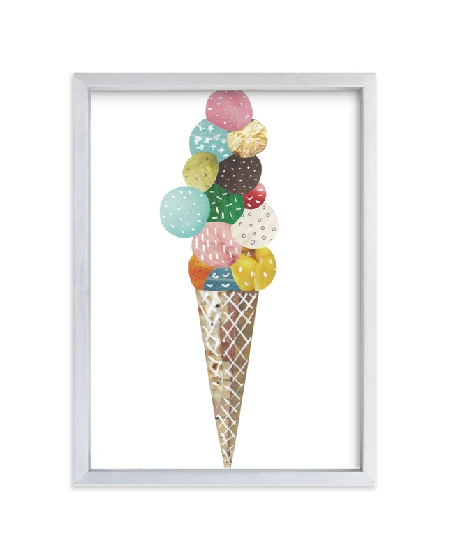 """Ice Cream"" - Limited Edition Art Print by Aiko Poole in beautiful frame options and a variety of sizes."