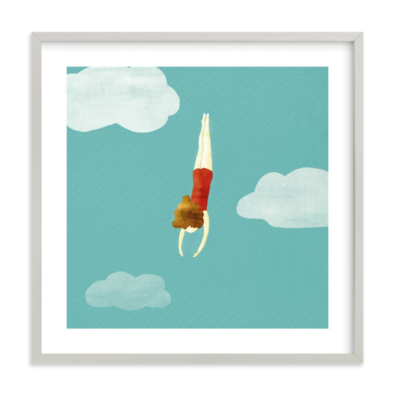 """swimmer"" - Limited Edition Art Print by Maria Gromek in beautiful frame options and a variety of sizes."