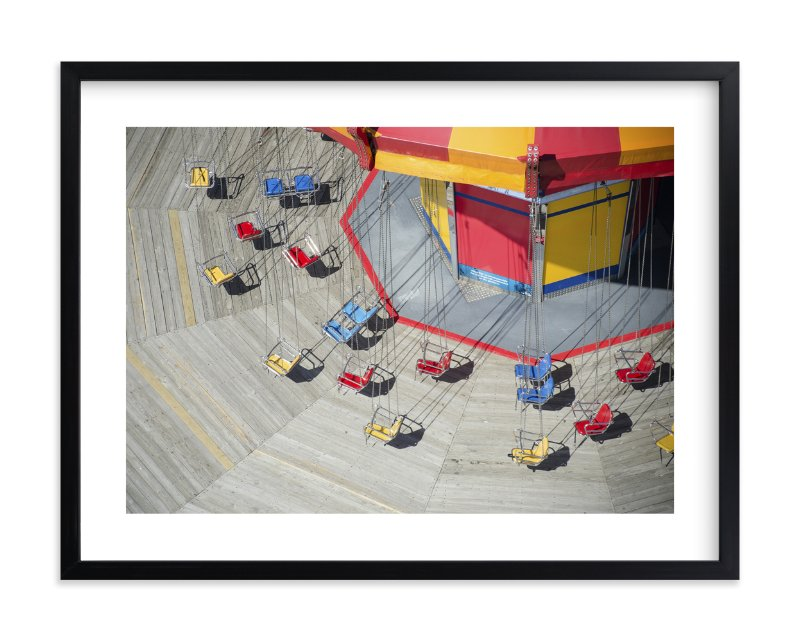 """Swings in Spring"" - Limited Edition Art Print by Caitlyn Zientara in beautiful frame options and a variety of sizes."