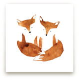 Twin Foxes by Mia Posada