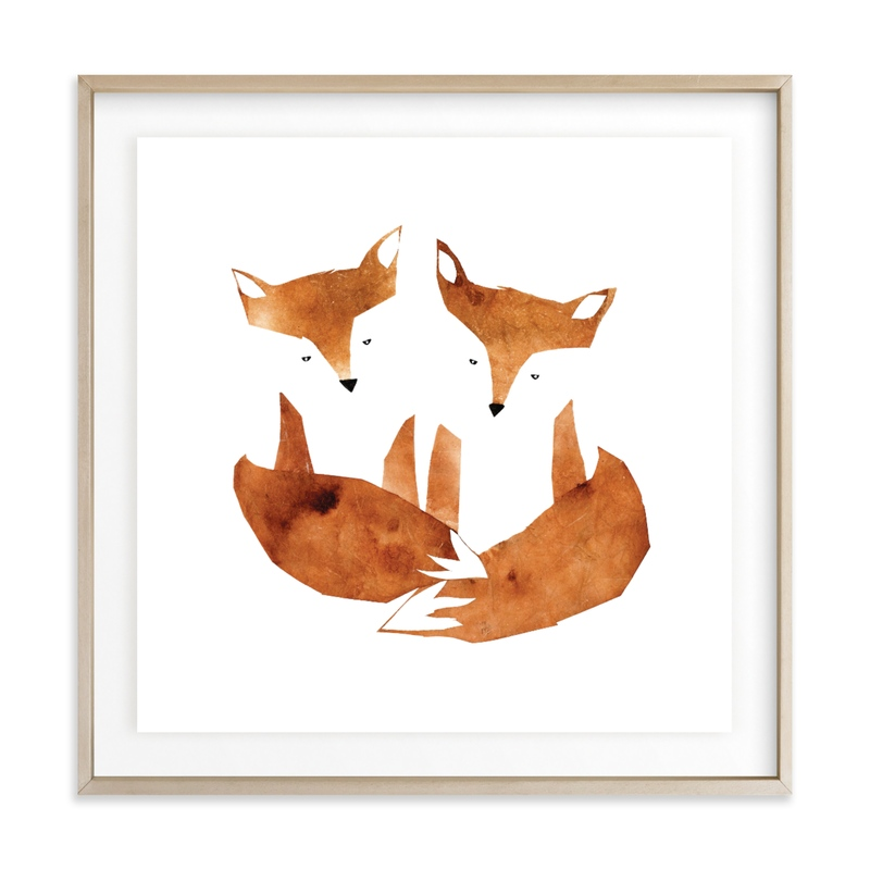 Twin Foxes Children's Art Print