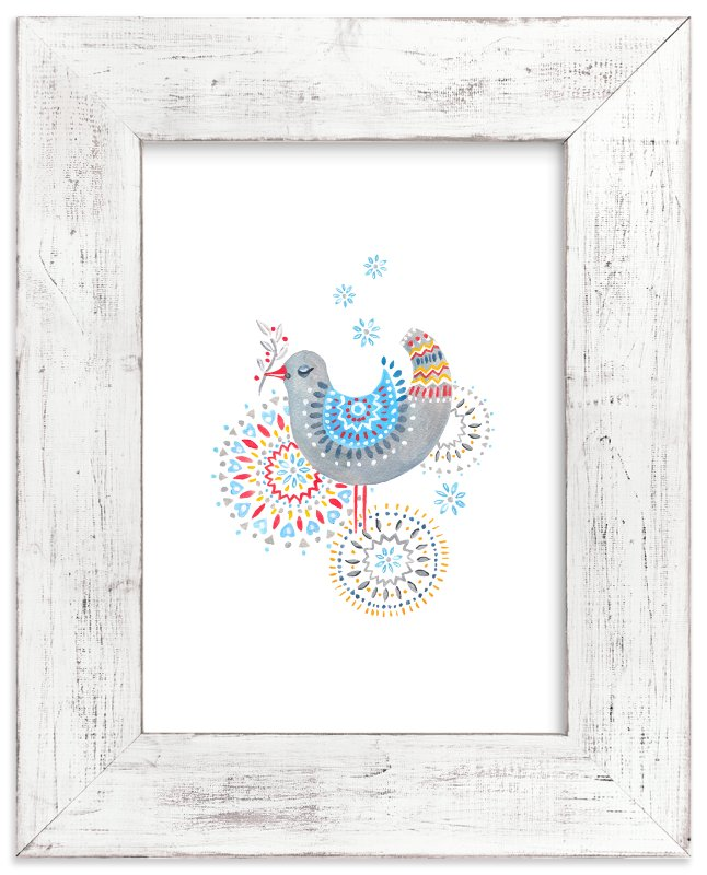 """""""While Snow is Falling"""" - Limited Edition Art Print by Eva Marion in beautiful frame options and a variety of sizes."""