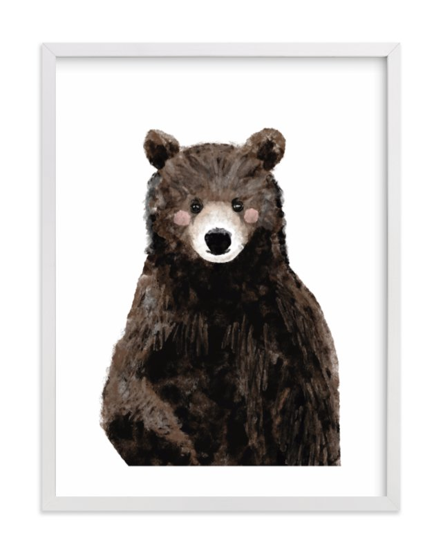 """Baby Animal.Bear"" - Limited Edition Art Print by Cass Loh in beautiful frame options and a variety of sizes."