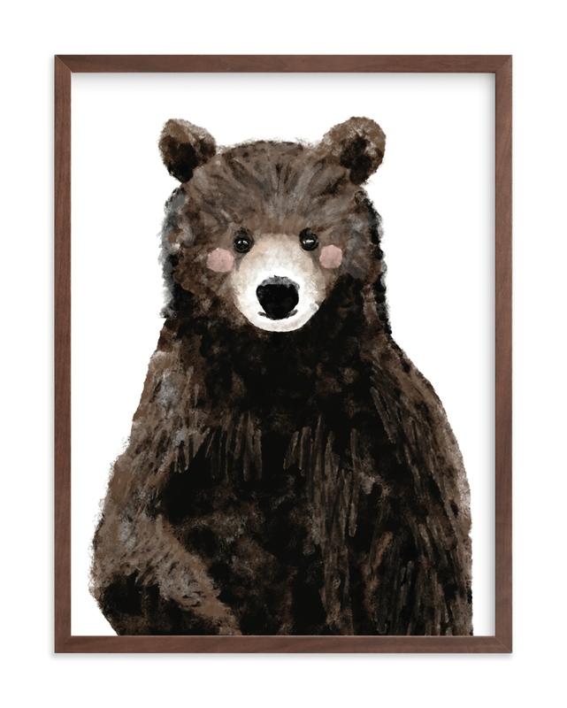 Baby Animal.Bear Children's Art Print