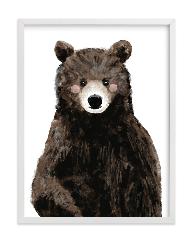 """""""Baby Animal.Bear"""" - Limited Edition Art Print by Cass Loh in beautiful frame options and a variety of sizes."""