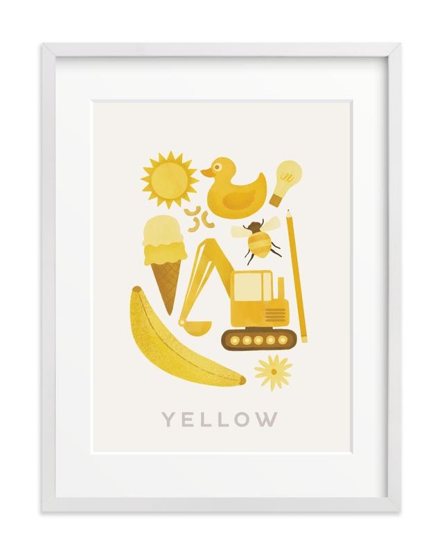 Ten Yellow Things Children's Art Print