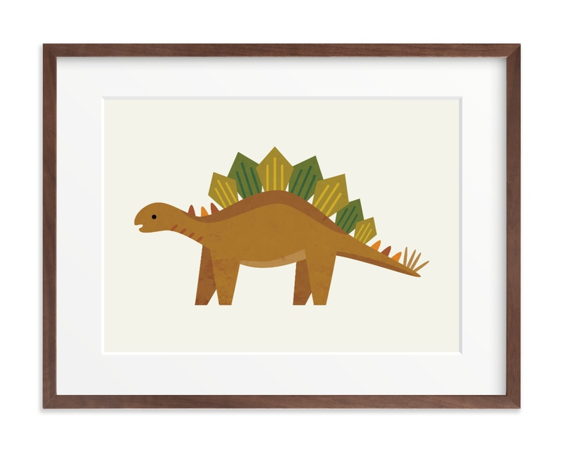 Stegosaurus Children's Art Print