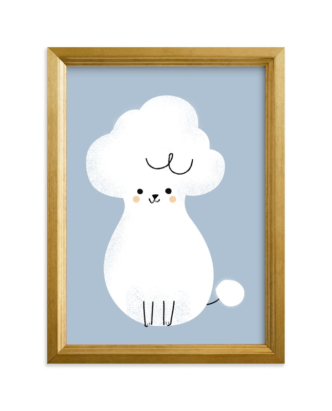 """""""Poodle"""" - Limited Edition Art Print by Lori Wemple in beautiful frame options and a variety of sizes."""