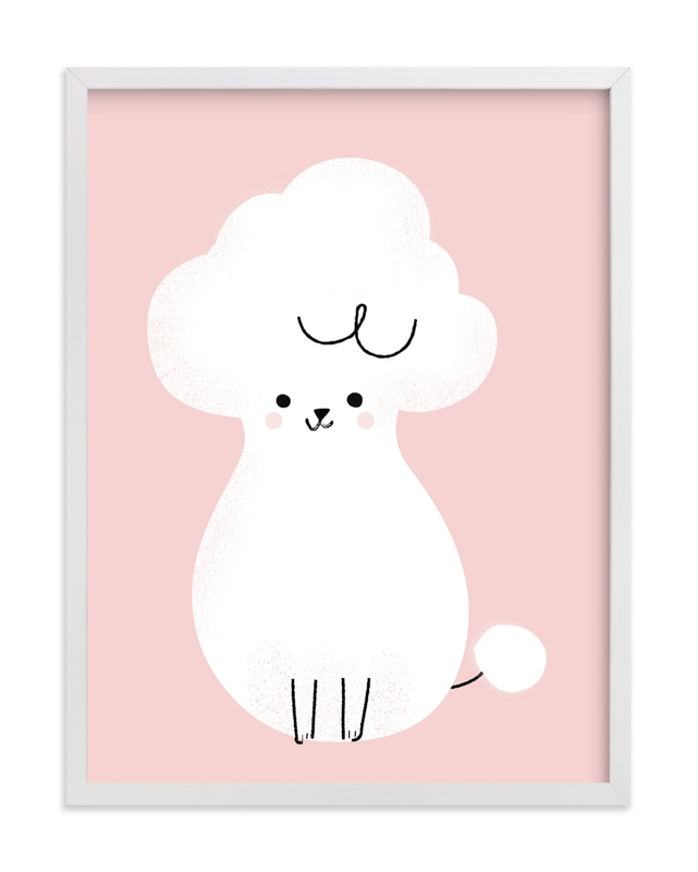This is a pink kids wall art by Lori Wemple called Poodle.