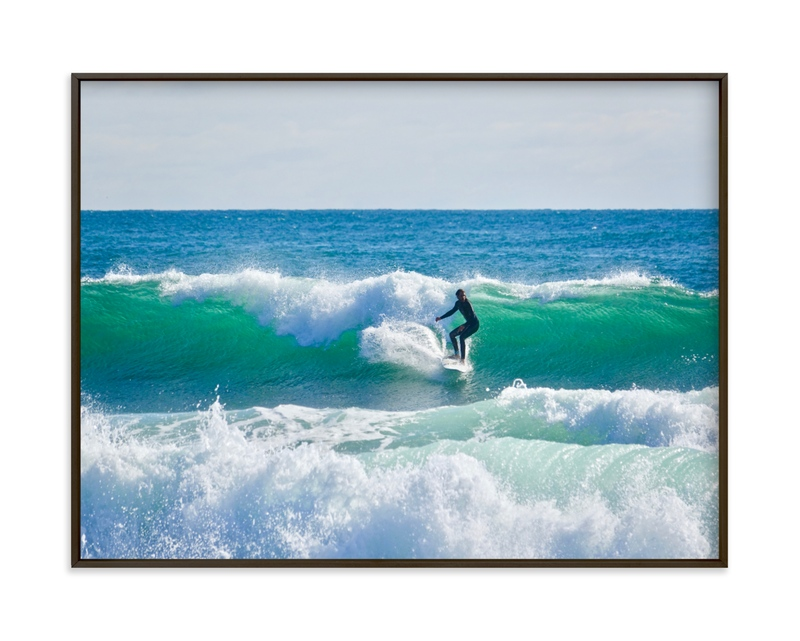 """""""Surfer Dude """" - Limited Edition Art Print by Jan Kessel in beautiful frame options and a variety of sizes."""