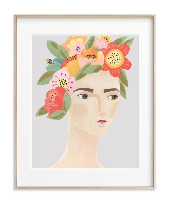 Flower Crown Children's Art Print