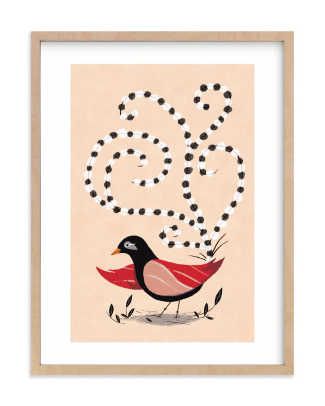 """Dotted Bird"" - Limited Edition Art Print by Morgan Ramberg in beautiful frame options and a variety of sizes."
