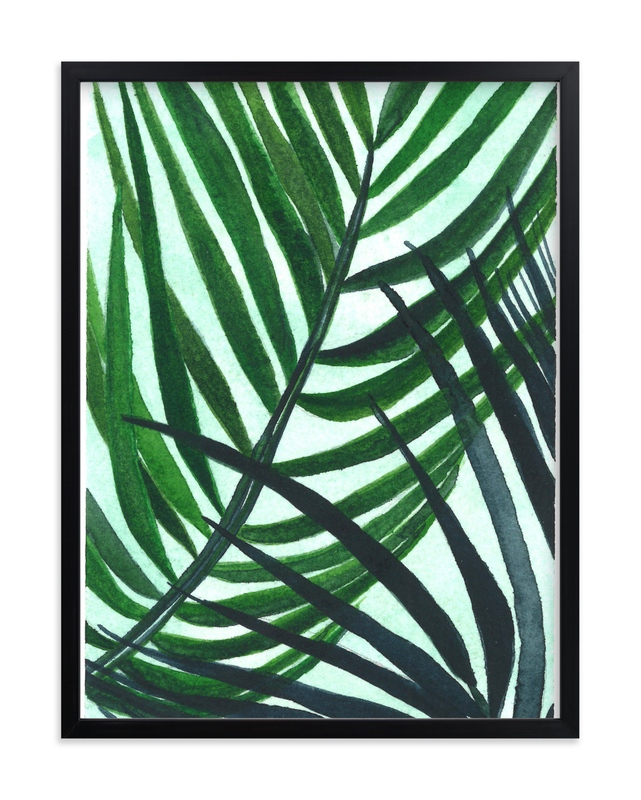"""""""Crossed Palms"""" - Limited Edition Art Print by Kara Aina in beautiful frame options and a variety of sizes."""