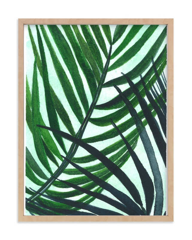 """Crossed Palms"" - Limited Edition Art Print by Kara Aina in beautiful frame options and a variety of sizes."