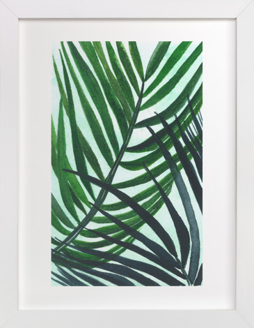 Crossed Palms Children's Art Print
