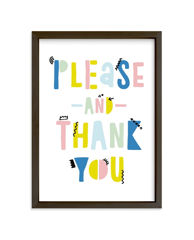 """""""Please and Thank You"""" - Limited Edition Art Print by Erika Firm in beautiful frame options and a variety of sizes."""