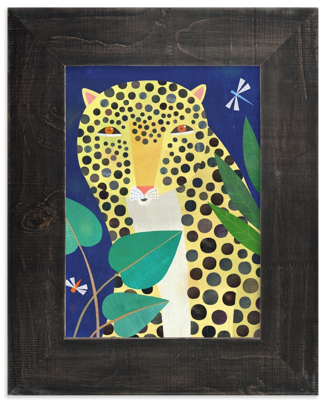 """""""Jungle Leopard"""" - Limited Edition Art Print by melanie mikecz in beautiful frame options and a variety of sizes."""