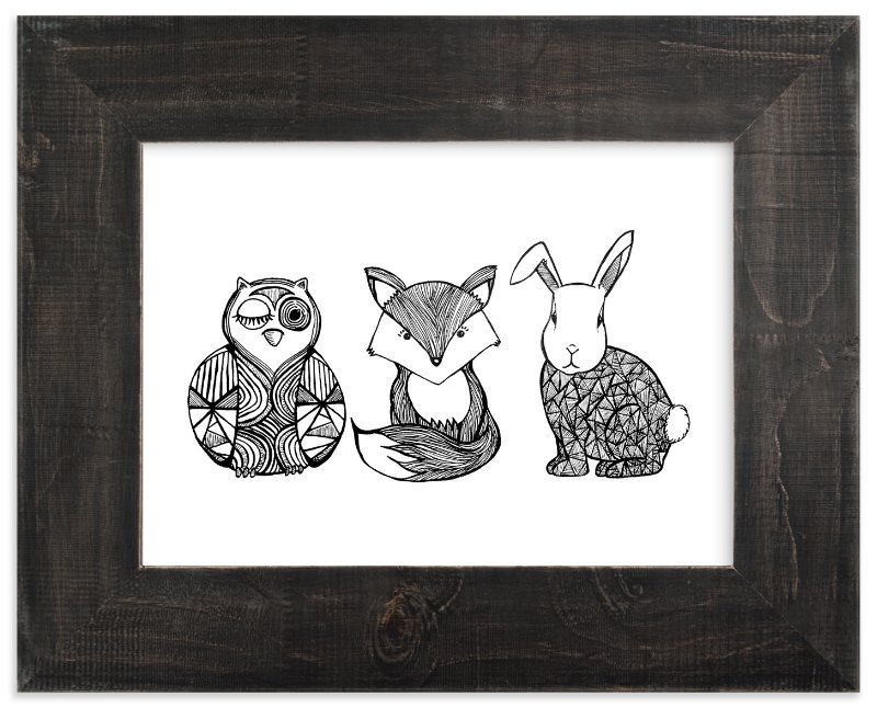 """""""Forest Friends"""" - Limited Edition Art Print by Lindsay Hanson in beautiful frame options and a variety of sizes."""