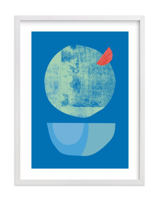 Blue Garnish Children's Art Print