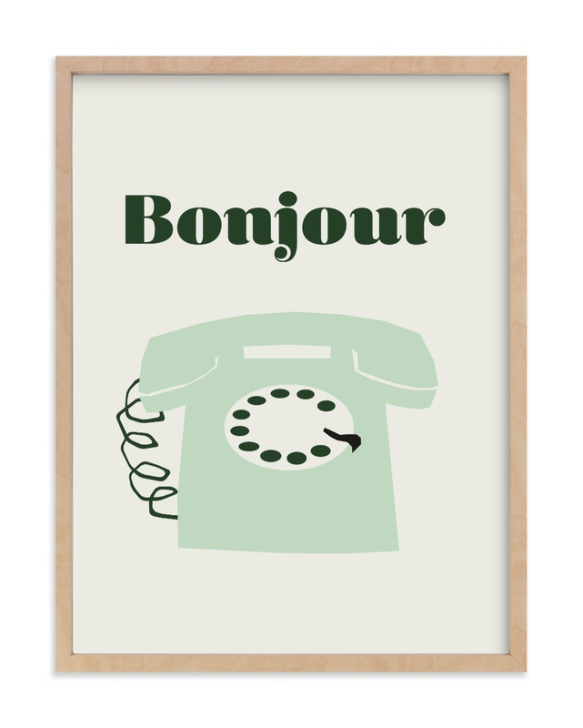 french phone Children's Art Print