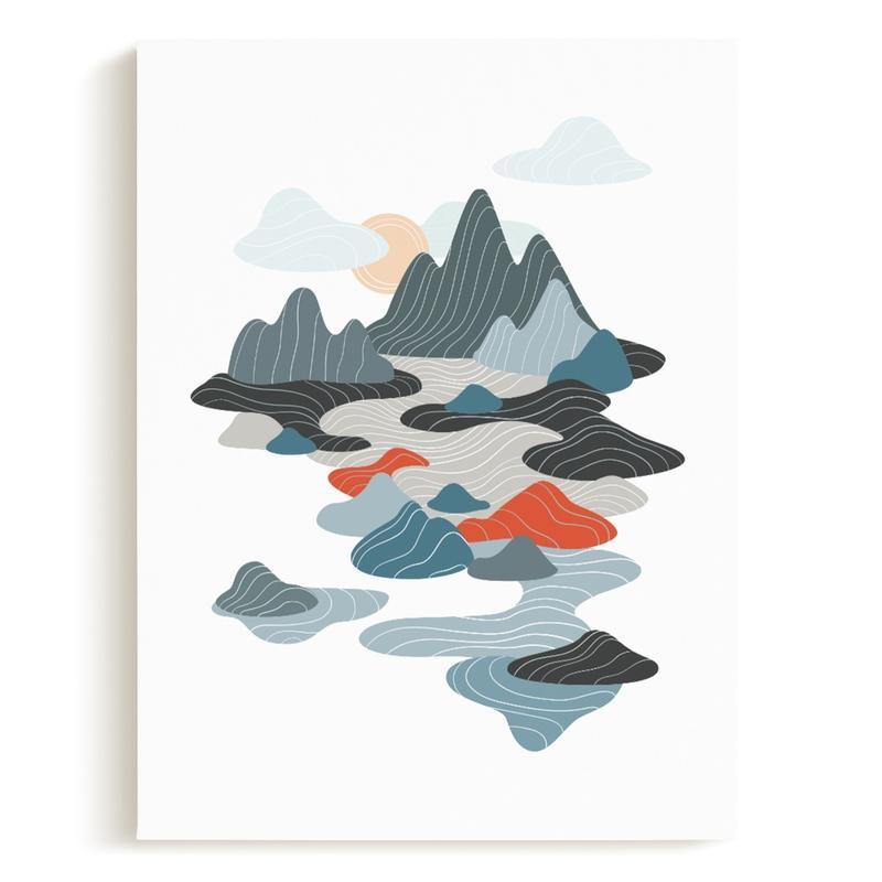 sky valley Children's Art Print