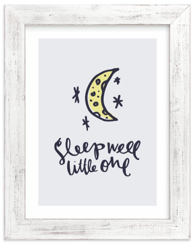 """""""sleep well little one"""" - Limited Edition Art Print by Little Bit Heart in beautiful frame options and a variety of sizes."""