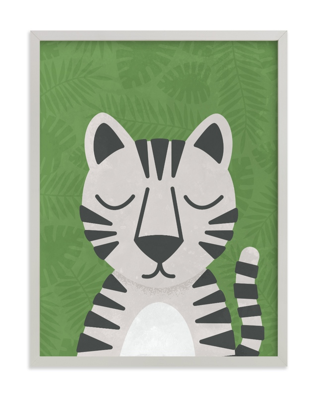 White Bengal Tiger Children's Art Print
