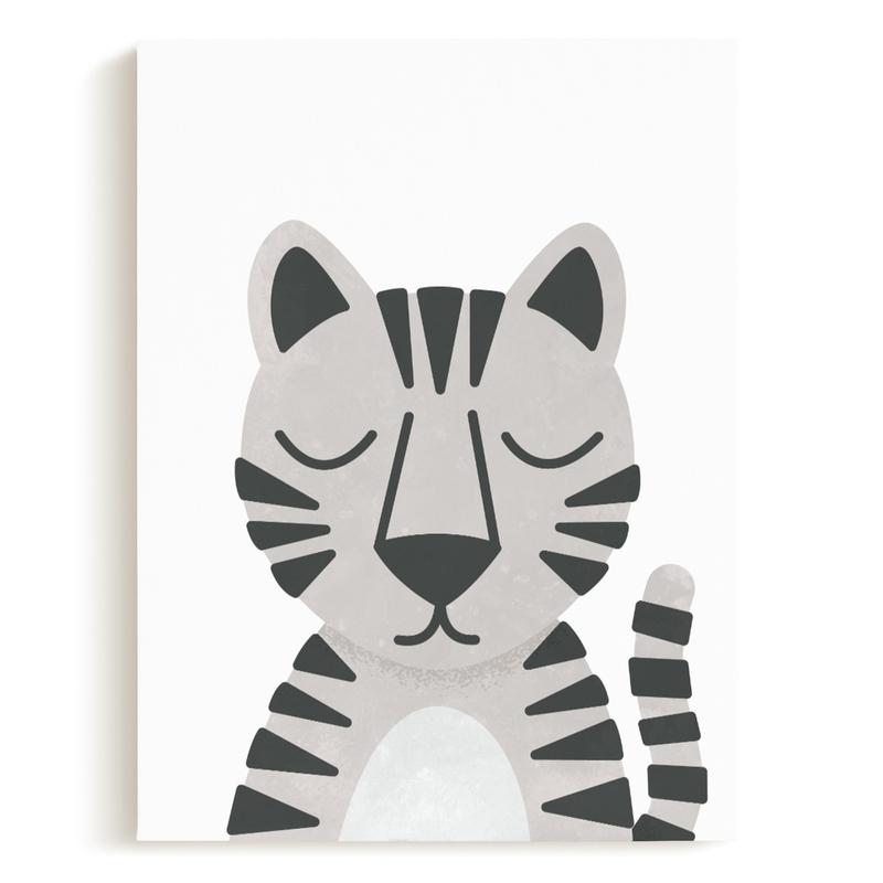 White Bengal Tiger Children's Art Print