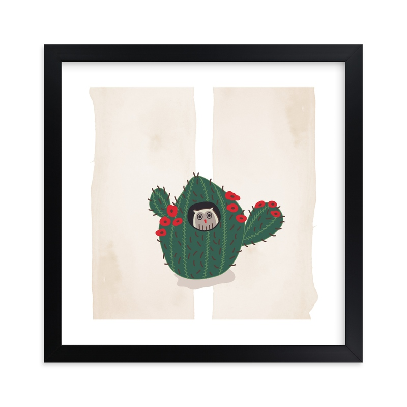 """""""Owl Motel #3"""" - Limited Edition Art Print by Brooke Bristow in beautiful frame options and a variety of sizes."""