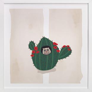 Owl Motel #3 Children's Art Print