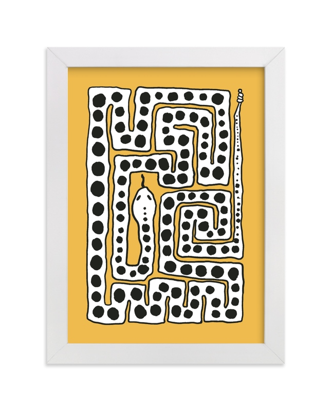 """""""Charming Snake"""" - Limited Edition Art Print by Inkblot Design in beautiful frame options and a variety of sizes."""
