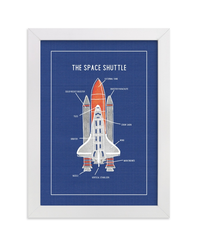 """The Space Shuttle"" - Limited Edition Art Print by Meggy Masters in beautiful frame options and a variety of sizes."