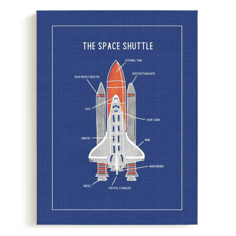 The Space Shuttle Children's Art Print