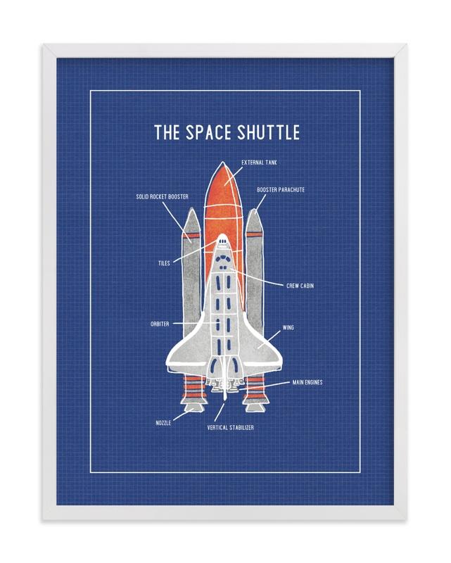 The Space Shuttle Children's Art Print