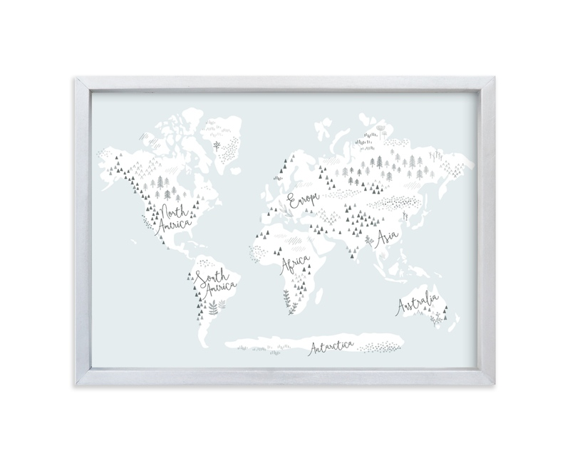 """""""Beautiful World Map"""" - Limited Edition Art Print by Jessie Steury in beautiful frame options and a variety of sizes."""