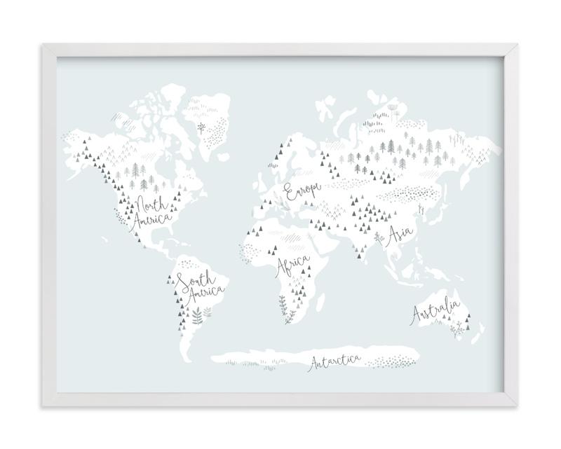 Beautiful World Map Children's Art Print