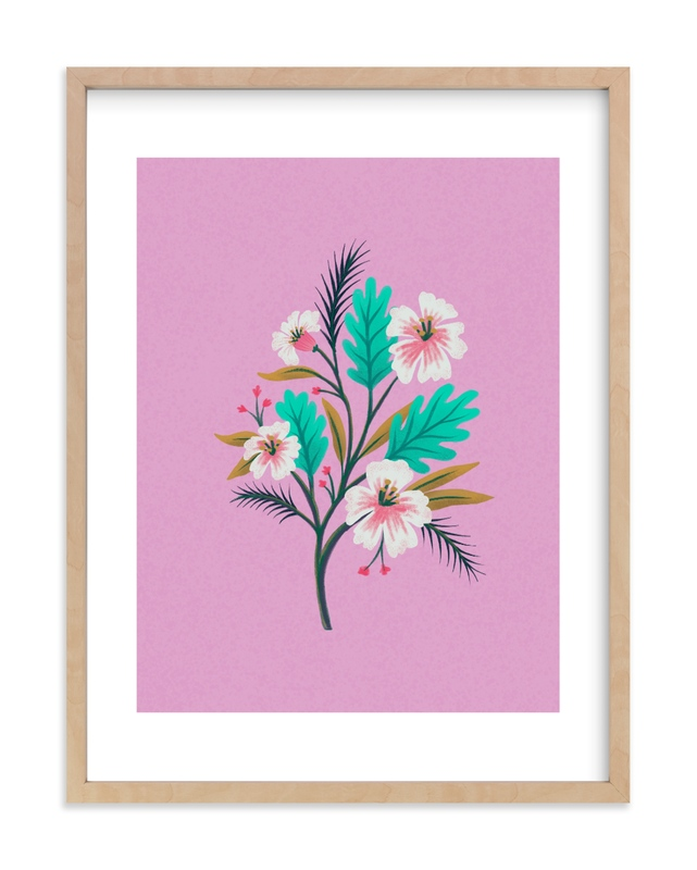 """""""Havana Florals"""" - Limited Edition Art Print by Marta Berk in beautiful frame options and a variety of sizes."""