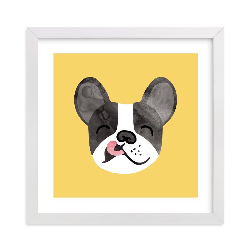 """""""Little Pup"""" - Limited Edition Art Print by Tayler Mitchell in beautiful frame options and a variety of sizes."""
