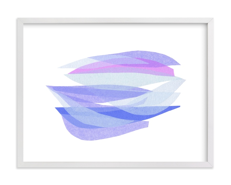 This is a purple kids wall art by Carrie Moradi called tissue taking flight.