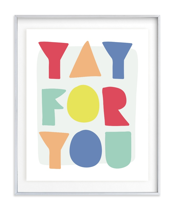 Yay for you Children's Art Print