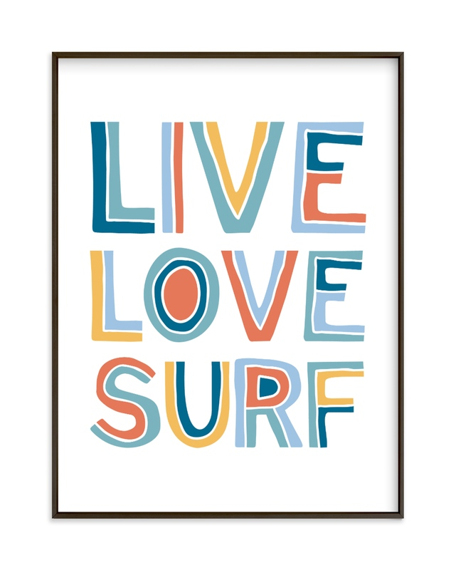 Live Love Surf Children's Art Print