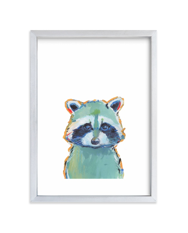 """""""Mr. Raccoon"""" - Limited Edition Art Print by Makewells in beautiful frame options and a variety of sizes."""