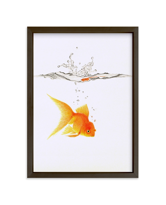 """""""Aquatic High Jump 3 of 3"""" - Limited Edition Art Print by Deborah Chou in beautiful frame options and a variety of sizes."""