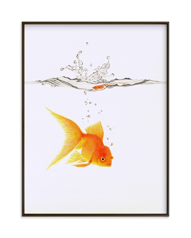 Aquatic High Jump 3 of 3 Children's Art Print