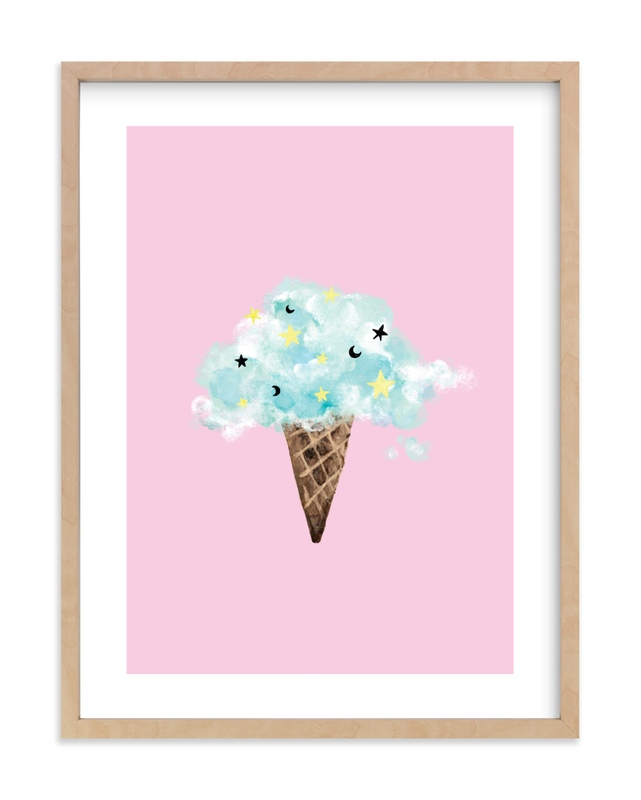 """""""cloud ice cream"""" - Limited Edition Art Print by Cass Loh in beautiful frame options and a variety of sizes."""