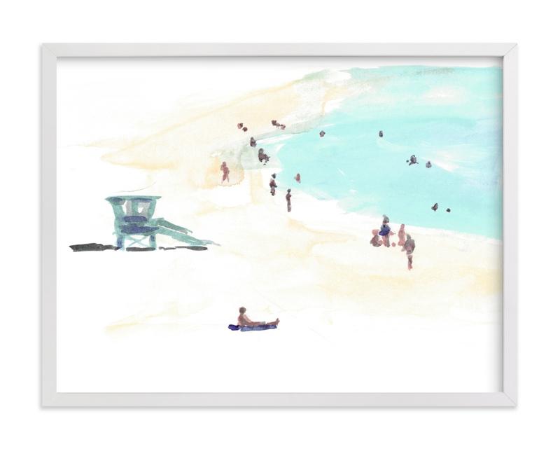 Surf City 2 Children's Art Print